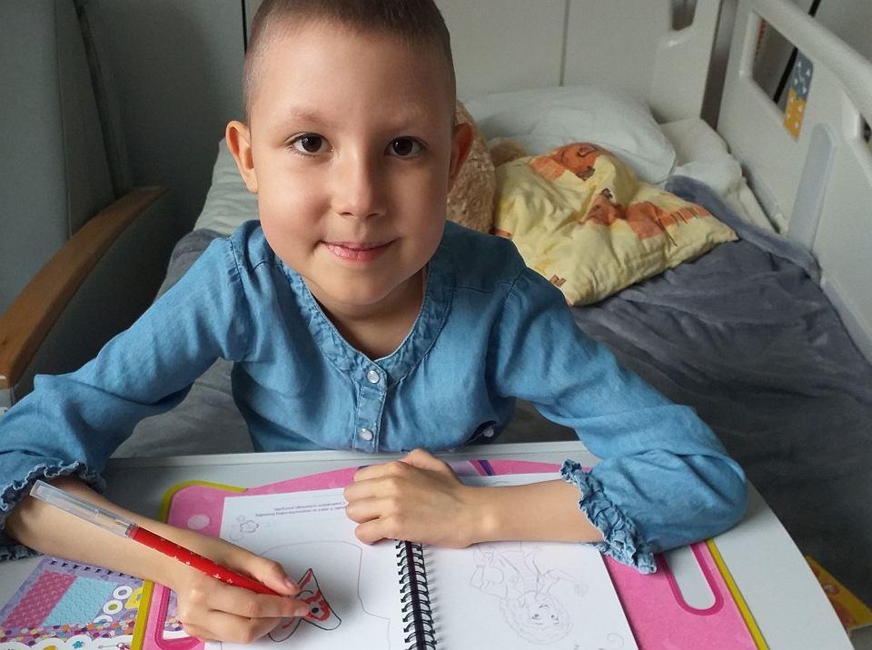 Róża, pacjentka kliniki Transplantacji Szpiku, Onkologii i Hematologii Dziecięcej Przylądek Nadziei