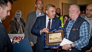Lech Wałęsa spotkał się z mieszkańcami Białegostoku. Na spotkaniu był Tadeusz Truskolaski