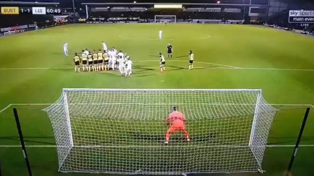 Leeds United rzut wolny
