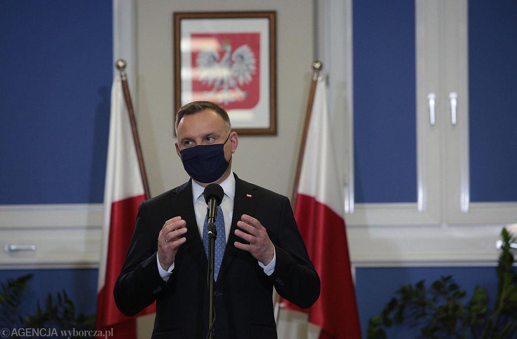 Staszów, 27 maja 2020 roku. Wizyta prezydenta Andrzeja Dudy