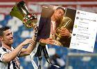 """Cristiano Ronaldo """"zaopiekował się"""" trofeum. Swoim zdjęciem chciał dorównać Lewandowskiemu"""