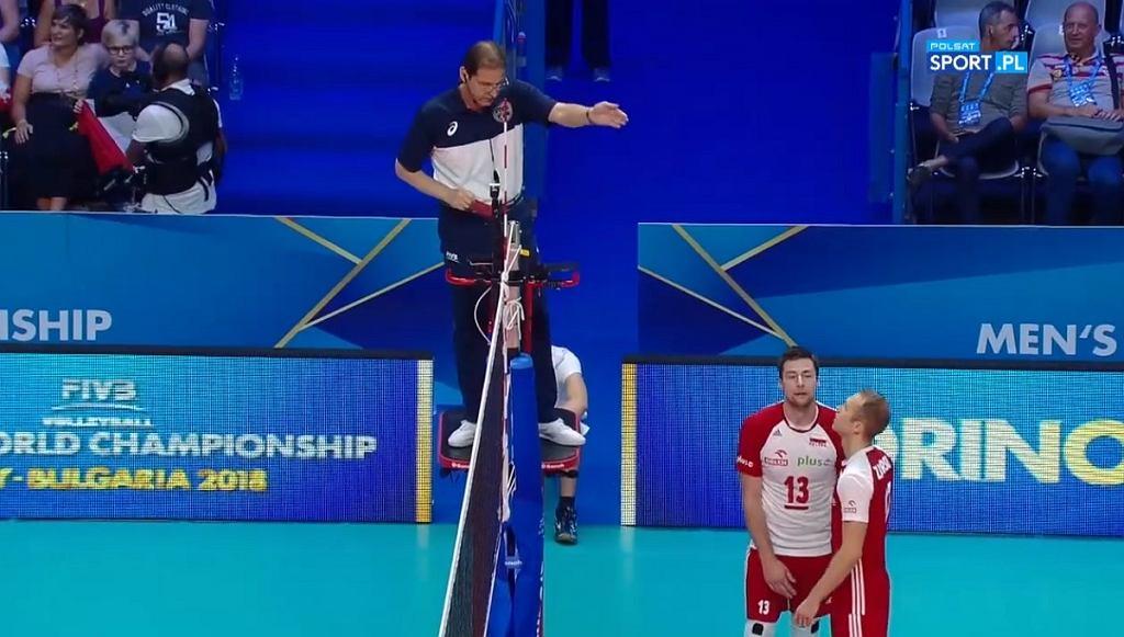 Michał Kubiak otrzymał czerwoną kartkę w meczu Polska - Serbia
