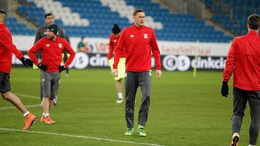 Trening reprezentacji Serbii przed towarzyskim meczem z Polską w Poznaniu