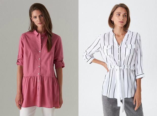 Bluzki i koszule maskujące brzuch
