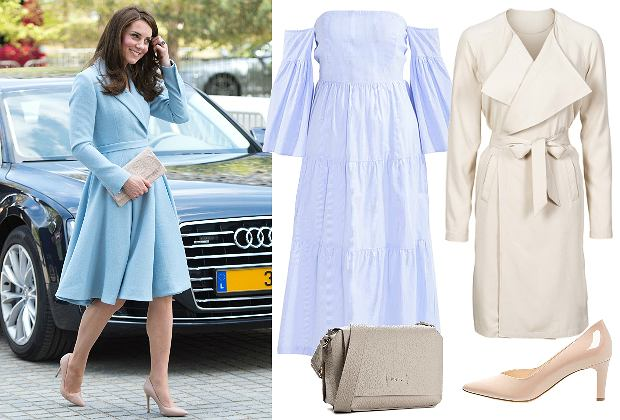 East News / Księżna Kate w niebieskiej sukience / kolaż: mat. partnera