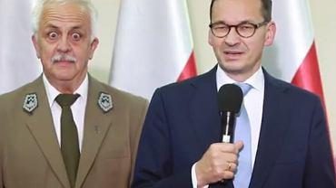 Dyrektor BPN Andrzej Grygoruk i premier Mateusz Morawiecki
