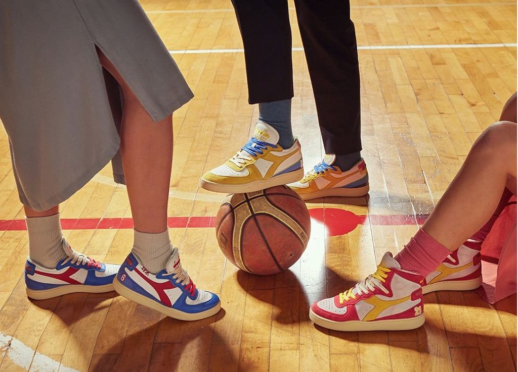 Kolorowe sneakersy