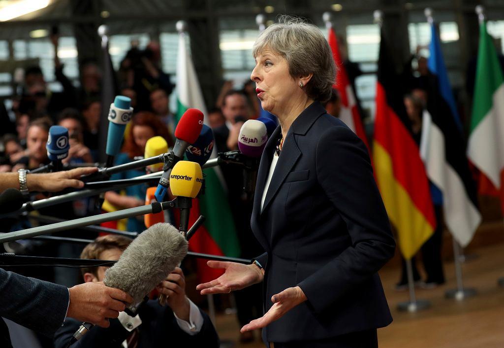 Brexit. Szczyt UE. Premier Wielkiej Brytanii Theresa May