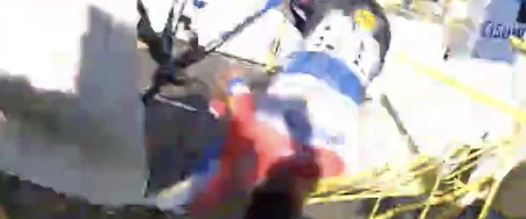 Kibic z bliska nagrał wypadek Jakobsena. Ogromna prędkość [WIDEO]