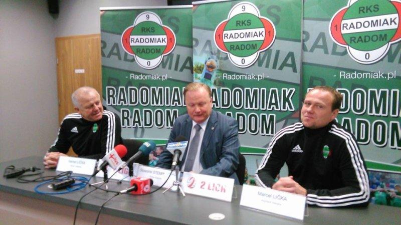 Verner Lićka (z lewej strony), nowy trener Radomiaka