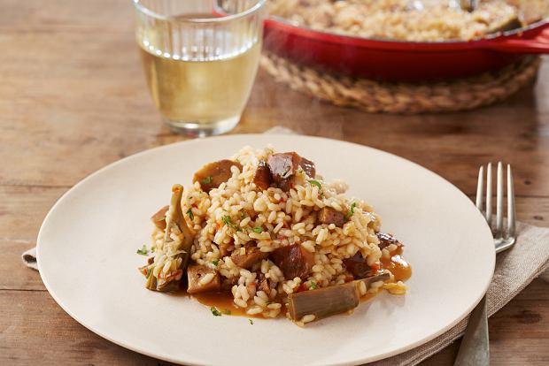 Potrawka z rydzami a la risotto