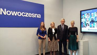Radni Nowoczesnej. Od lewej: Jolanta Niezgodzka,  Dorota Galant, Tadeusz Grabarek, Magdalena Razik - Trziszka