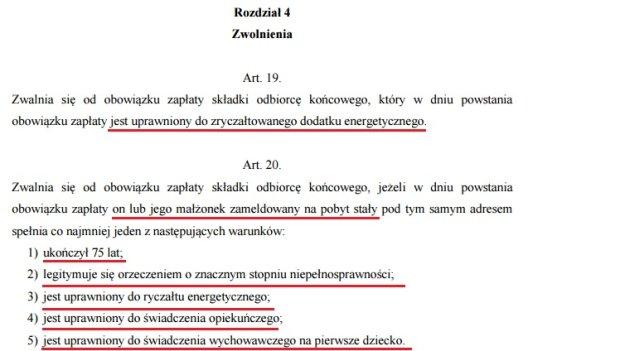 Fragment projektu ustawy o składce audiowizualnej