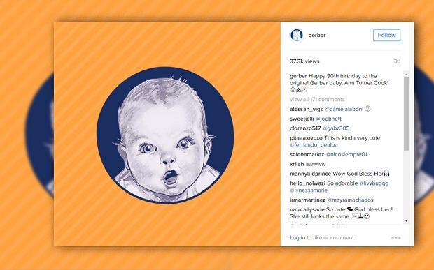 Słodki niemowlak z etykiet Gerbera kończy 90 lat. Kontrakt życia, a firma zapłaciła...