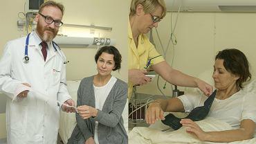 Anna Popek na oddziale kardiologii