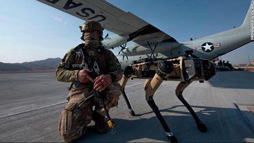Do ćwiczeń amerykańskiej armii dołączyły psy-roboty (U.S. Air Force photo by Tech. Sgt. Cory D. Payne)