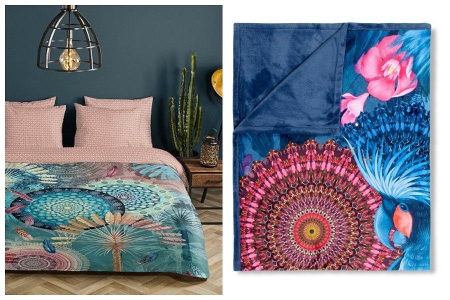 Sypialnia w stylu etno - tekstylia