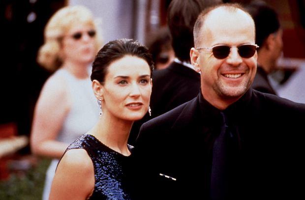 Demi Moore z Brucem Willisem w 1997 roku (fot. Shutterstock)