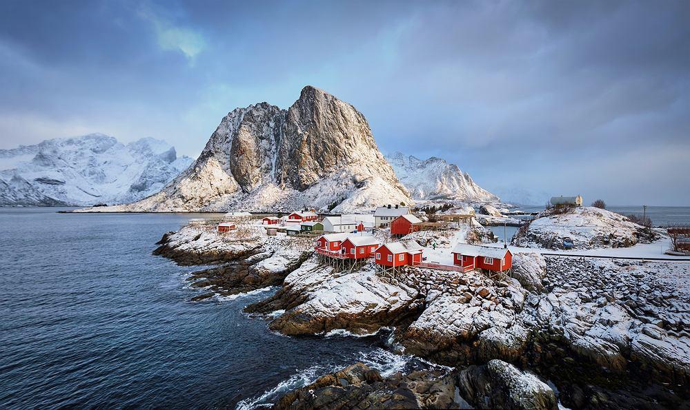 Norweskie Lofoty zimą