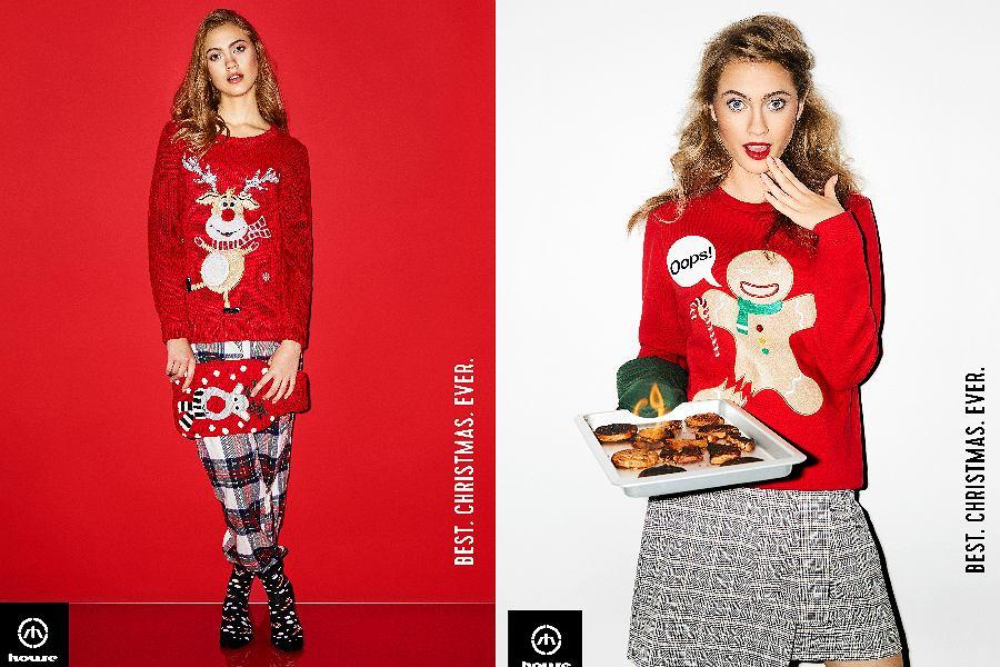 Swetry z nowej, świątecznej kolekcji marki House