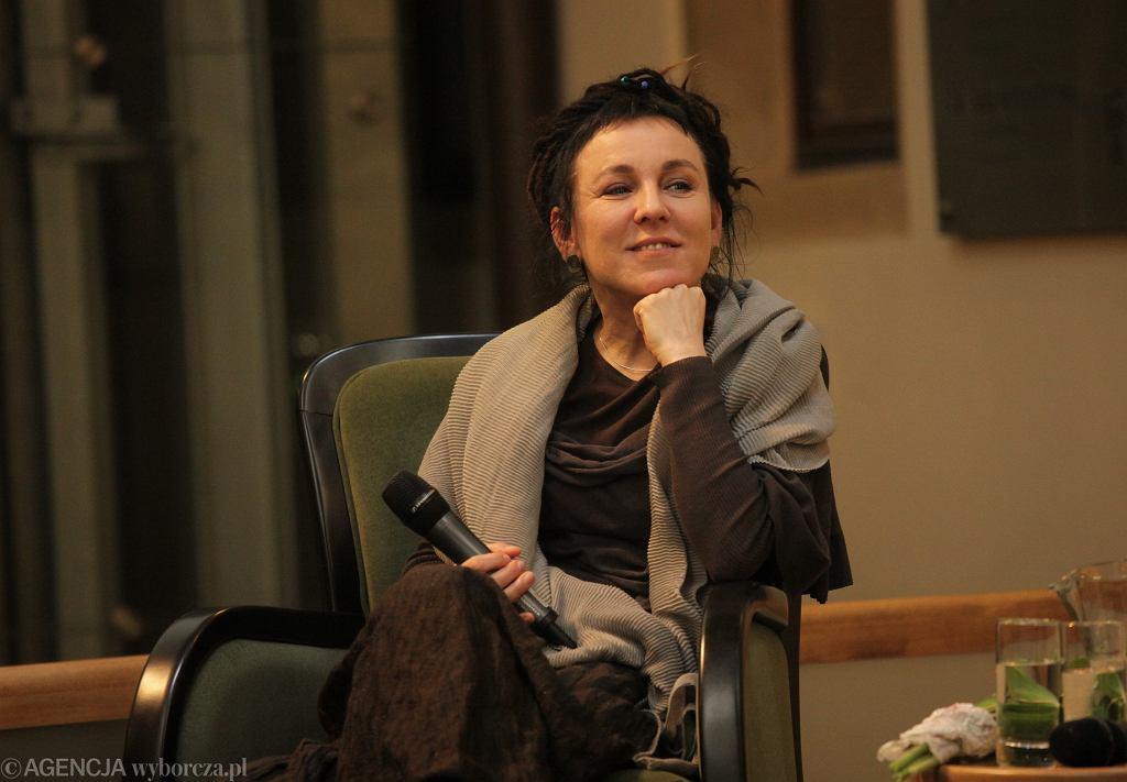 Olga Tokarczuk z Literacką Nagrodą Nobla.