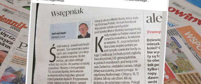 """39 błędów we wstępniaku do """"Dziennika Zachodniego"""". Literówka w nazwisku autora"""