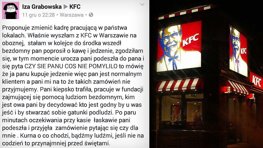 KFC wyprosiła bezdomnego.