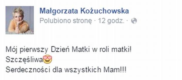 Podpis do zdjęcia Małgorzaty Kożuchowskiej