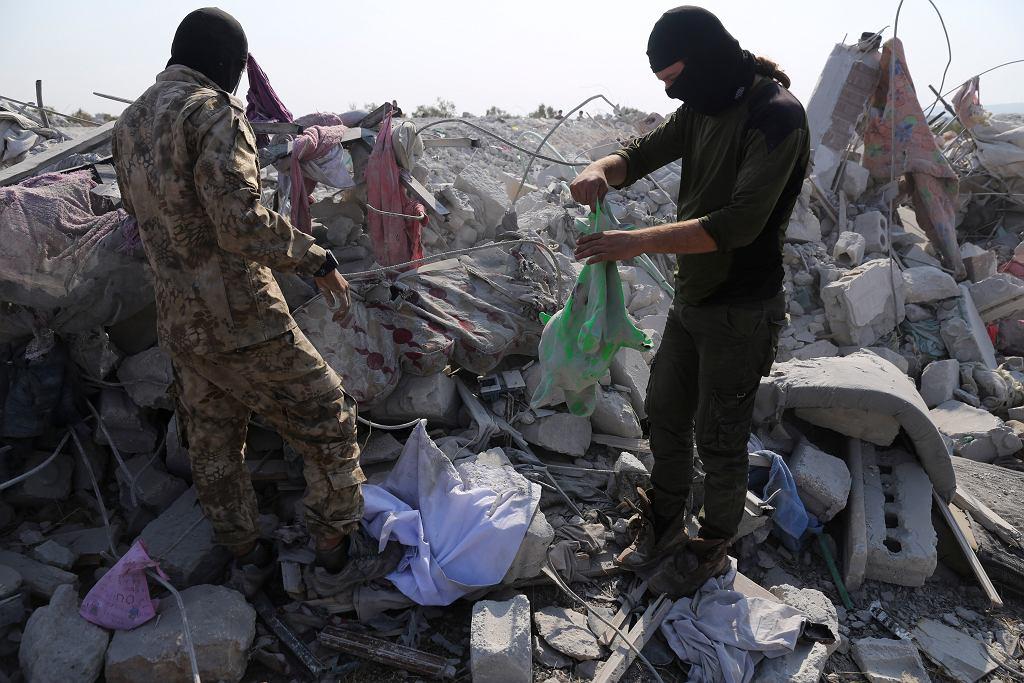 Wieś Barisza po amerykańskiej operacji, w wyniku której zabito przywódce ISIS Abu Bakr al-Baghdadiego