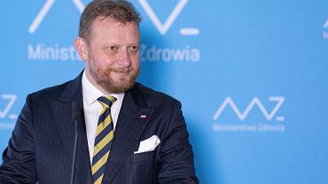 Minister zdrowia w rządzie PiS Łukasz Szumowski składa dymisję. Warszawa, 18 sierpnia 2020
