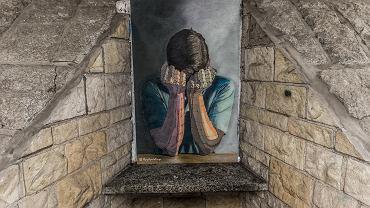 Obraz autorstwa Mathiasa Vogel'a w przejściu podziemnym na pl. Jana Pawła II