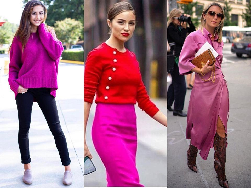 Ubrania w kolorze magenta