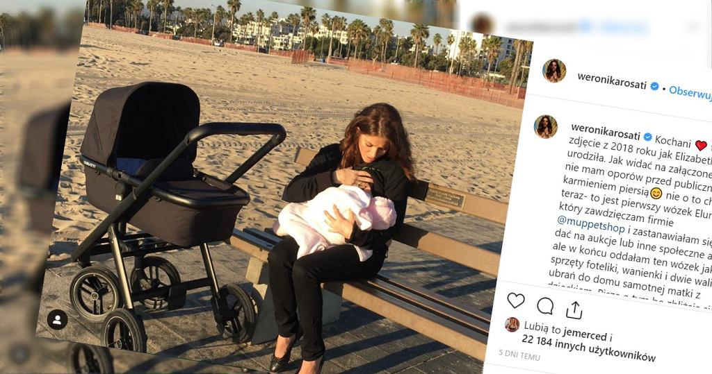 Weronika Rosati pokazała, jak karmi piersią dziecko.