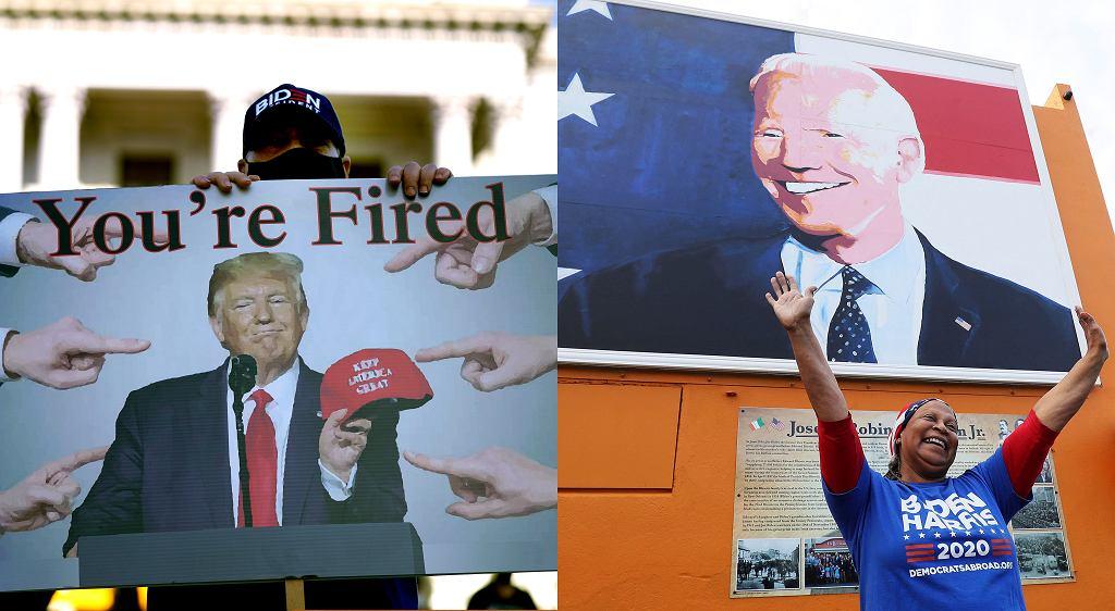 Donald Trump i Joe Biden na plakatach