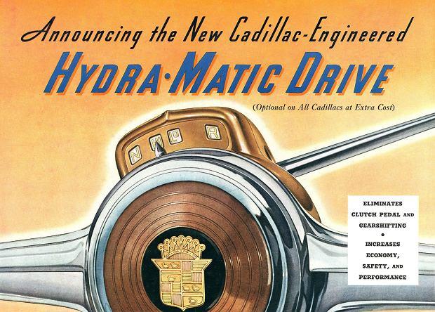 Reklama skrzyni Hydramatic z 1940 roku