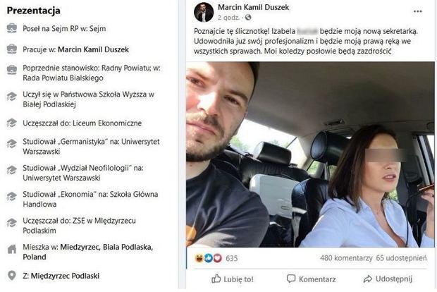 Włamanie na konto Marcina Kamila Duszka