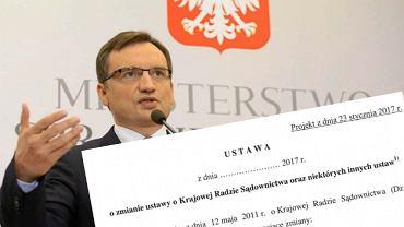 Zbigniew Ziobro chce zmian w w Krajowej Radzie Sądownictwa (KRS)