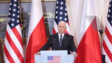 Wiceprezydent Mike Pence mówił o 'wielkim polskim bohaterze'. Przywołał słowa Lecha Wałęsy