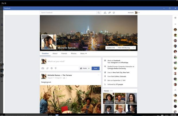 Facebook na Windows 10