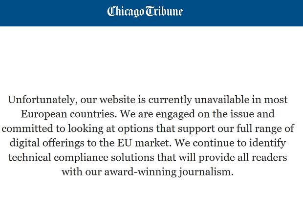Strona Internetowa Chicago Tribune