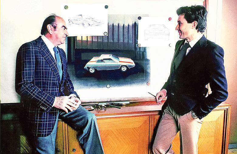 Enrico Bertone i Marcello Gandini w pracy, 1976 rok