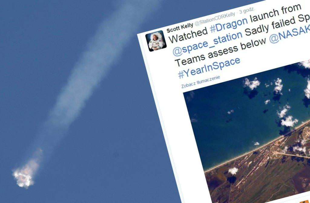 Nieudany start rakiety SpaceX Falcon 9