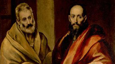 Św. Piotr i św. Paweł na obrazie El Greca. Chrześcijaństwo narodziło się jako herezja w stosunku do głównych nurtów ówczesnego judaizmu. Wedle Dziejów Apostolskich chrześcijanie zostali nazwani przez żydowskich przeciwników sektą nazarejczyków. Nowa religia mogła się ukształtować jako jeden z wielu prądów żydowskich, tak jak judaizantes bądź ebionici - żydowscy chrześcijanie, którzy bezwzględnie przestrzegali Prawa Mojżeszowego. Tak się nie stało, w czym główna zasługa św. Pawła, który rozpropagował wiarę w Chrystusa wśród pogan. Na ich przyjęcie do Kościoła zgodzili się, choć z oporami, apostołowie ze św. Piotrem na czele - uczniowie wybrani przez samego Jezusa z Nazaretu.