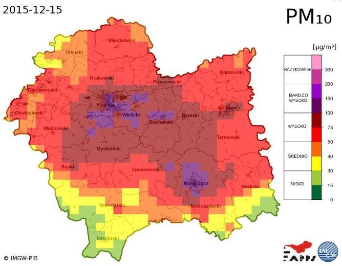 Smog Nad Krakowem Normy Znacznie Przekroczone Centrum
