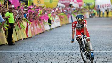 Rafał Majka na trasie Tour de Pologne