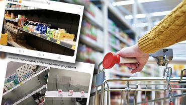 W niektórych sklepach zniknęła część towarów. To efekt koronawirusa?
