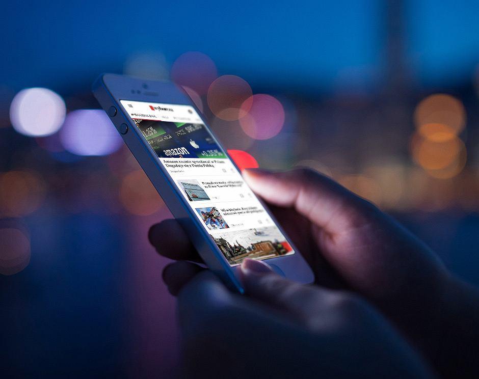 Aplikacja 'Wyborczej' na smartfonie
