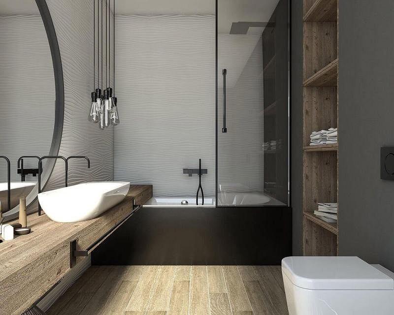 Nowoczesna łazienka z wanną z prysznicem