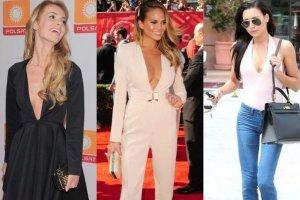 Kiedy Kim Kardashian trafiła na okładkę Vogue'a, nazywanego biblią mody, wybuchł ogromny skandal. Oburzeni miłośnicy mody z całego świata wypominali celebrytce jej przeszłość, nazywali gwiazdą porno i odmawiali jakiegokolwiek wyczucia smaku. Nie potrafi się ubrać, wygląda tanio - takich opinii Kardashian słuchała codziennie. Okazuje się jednak, że styl Kim ma coraz więcej naśladowczyń, także na polskim podwórku. Wśród fanek jej strojów są seksowne gwiazdy, których nie sposób posądzić o brak gustu. Wygląda na to, że - czy to się komuś podoba, czy nie - Kardashian stałą się właśnie wyrocznią mody. Zobaczcie, kto i z jakim skutkiem ją naśladuje.