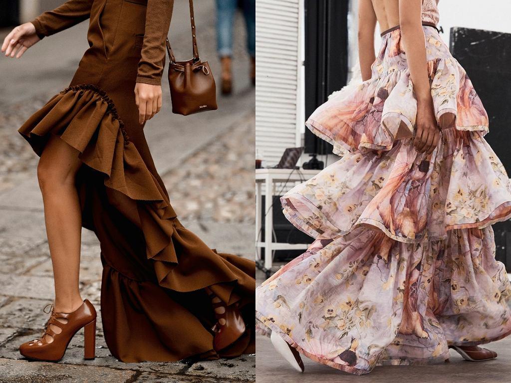 sukienki z falbanką na dole